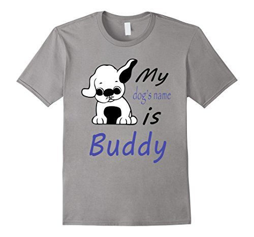 men s dog name buddy t shirt cute pretty puppy boy tee 2x