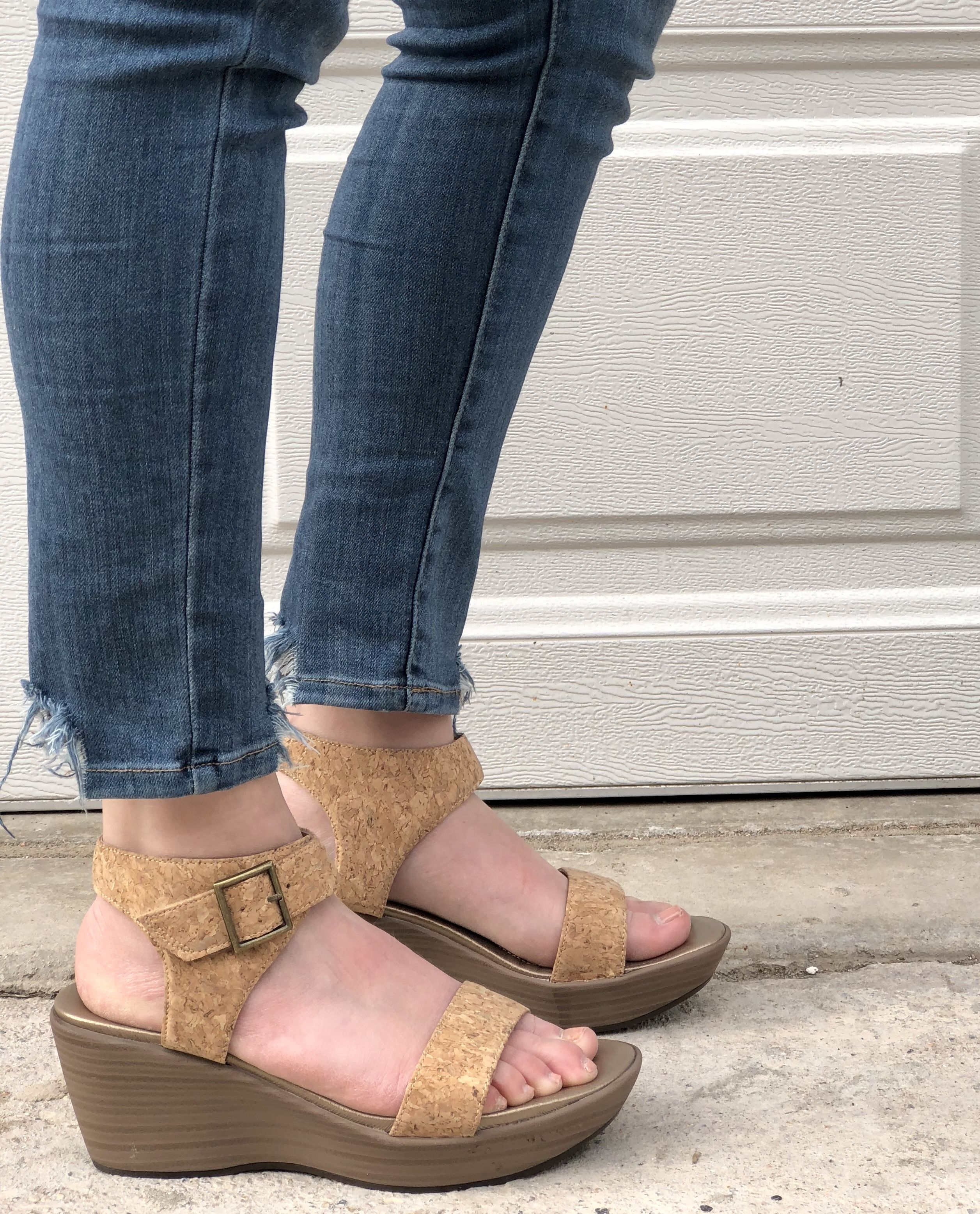 81a7a9c211c4 Step up your fashion game with our Cork Caprice  Wedges ✨ They have a 2.75