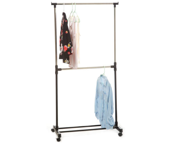 Home Essentials 2 Tier Rolling Garment Rack In 2020 Rolling