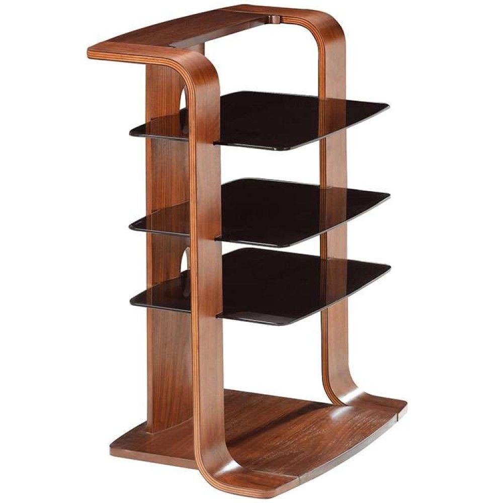 Jual Jf204 Wb Hi Fi Curve Wood Curved Wooden Hi Fi Stand Walnut  # Hifi Furniture Wood High Quality