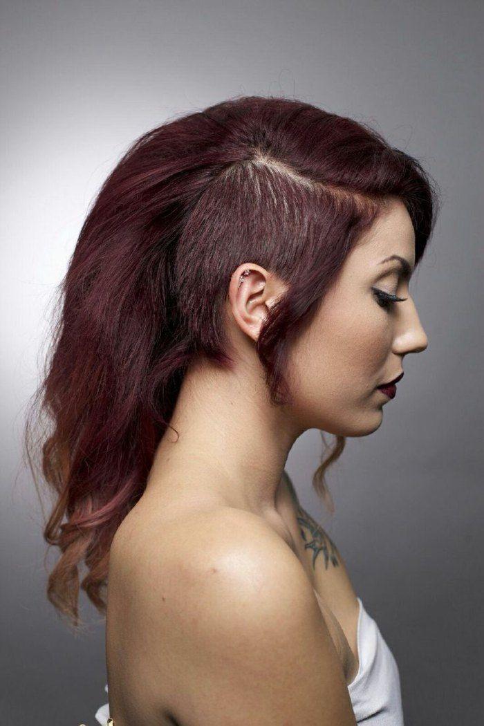 undercut f r lange haare aubergine haarfarbe hairstyles pinterest auberginen haarfarben. Black Bedroom Furniture Sets. Home Design Ideas