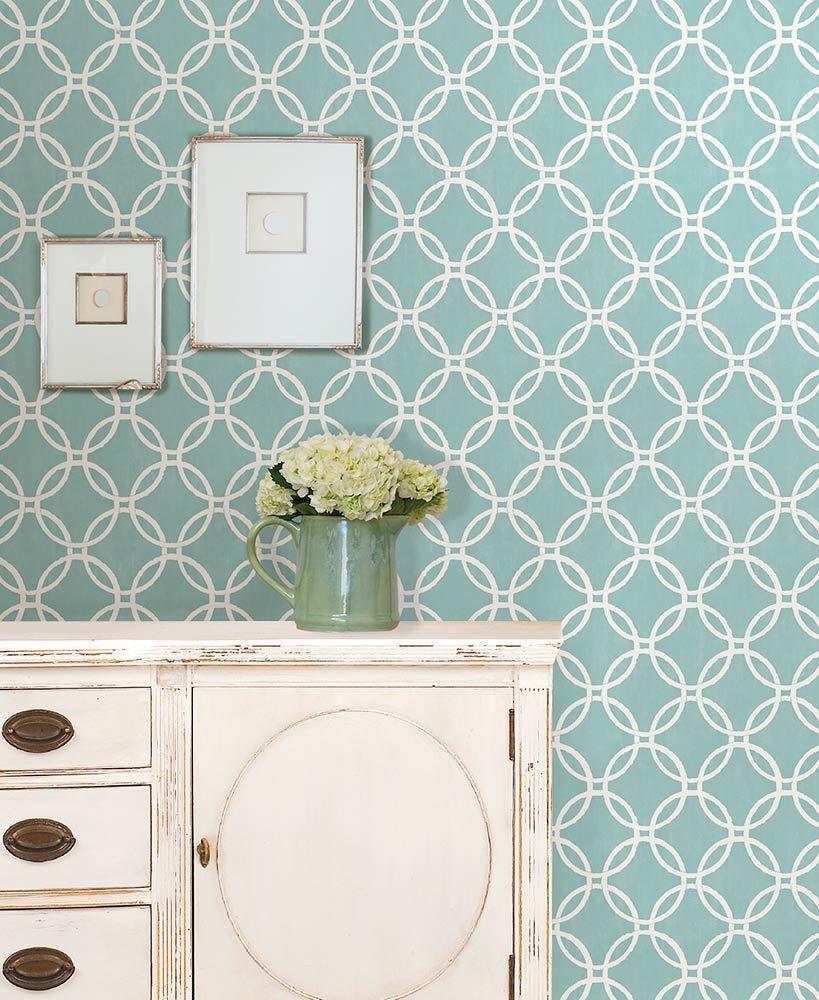 Nuwallpaper Peel And Stick Wallpaper Peel And Stick Wallpaper Blue Geometric Wallpaper Bathroom Wallpaper