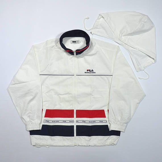 e539f321d8e7 Vintage FILA Biella Italia Windbreaker Jacket / FILA Big Logo / 90s FILA /  Fila Sailing Yacht Jacket / Fila Tracktop / Fila Tennis Jacket