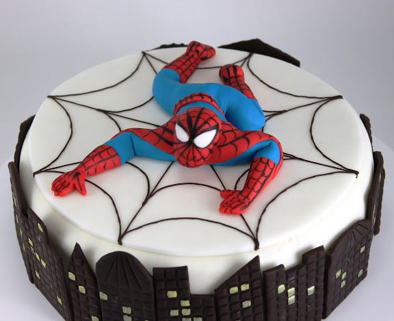 Spiderman ricette Pinterest Spiderman Cake and Birthday cakes