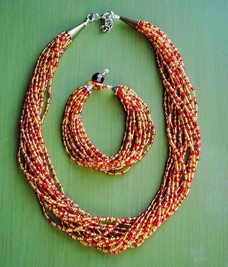 SEMINOLES statement necklace and bracelet set  fb62cb69f77a