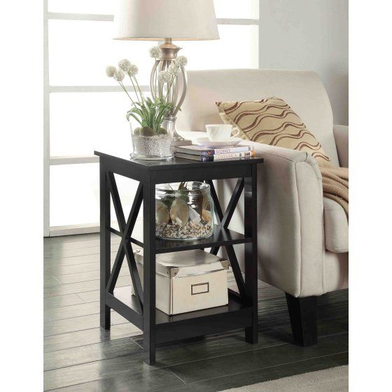 convenience concepts oxford end table with open shelf