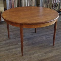 Mid Century Teak Round Dining Table With Butterfly Leaf By G Plan