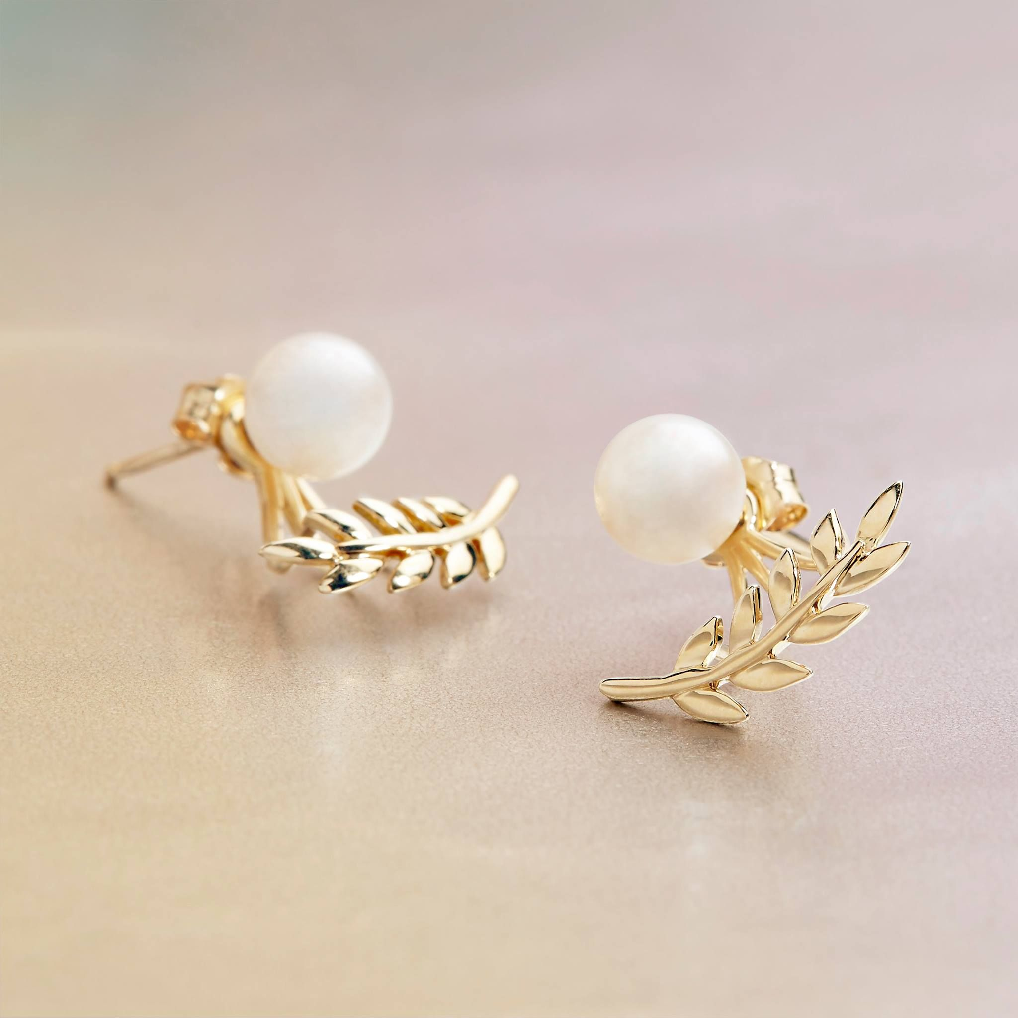 akoya real ring pearl accents earrings