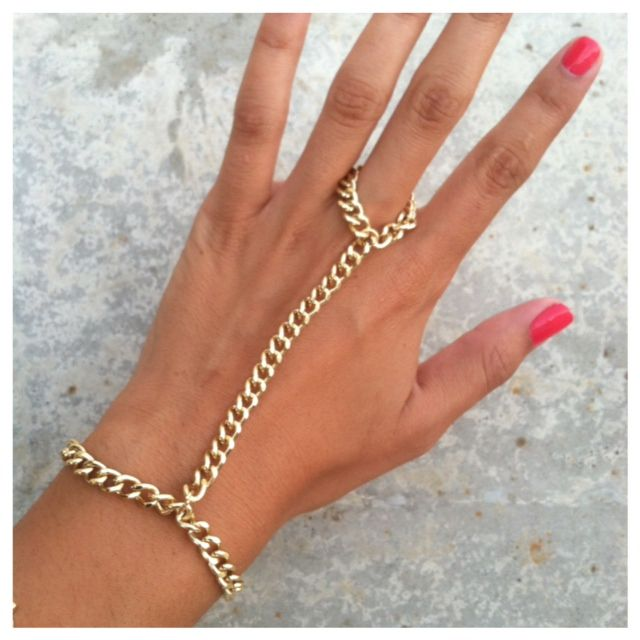 """Golden Girl"" Gold Hand Chain"