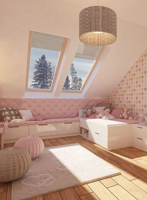 Photo of Gestaltungsidee für ein Mädchenzimmer im rosa Design