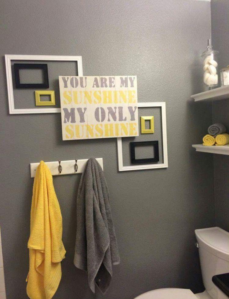 Gray And Yellow Bathroom Decor Idea Yellow Bathroom Decor Gray