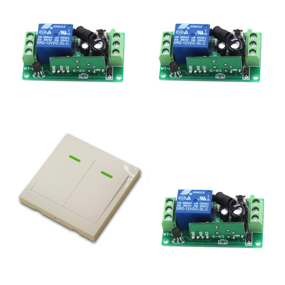 24v Wireless Remote Control Llight Switch System 9v 12v 1ch Receiver Relay Module Wall Transmitter For Lighting Lamp Led Remote Control Transmitter Relay