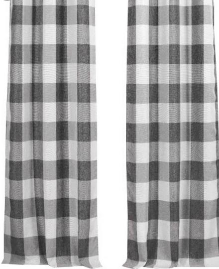 Graybbb Buffalo Check Curtains Check Curtains Grey Check Curtains