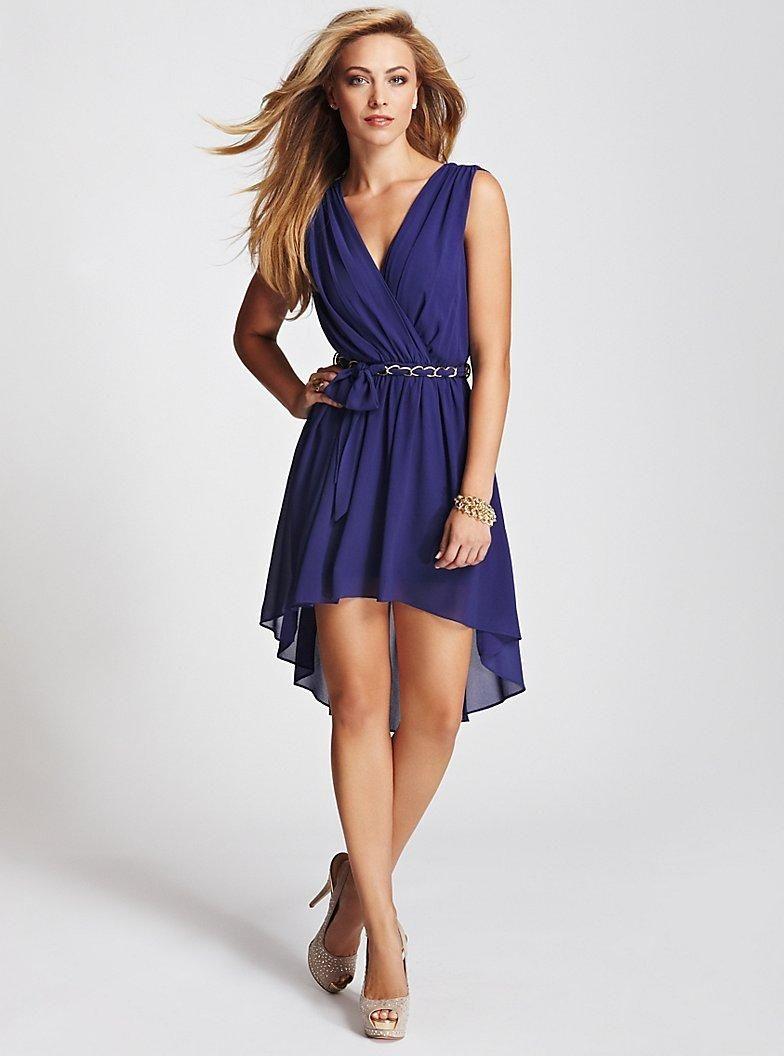 56a1272f53b Sleeveless High-Low Dress