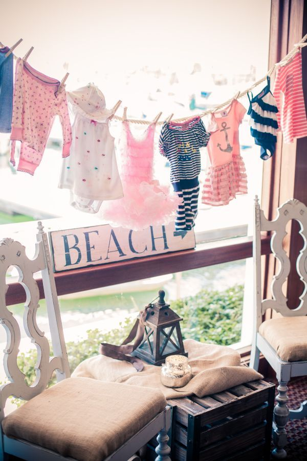 Pink and Blue Nautical Baby Shower (With images) | Beach baby ...