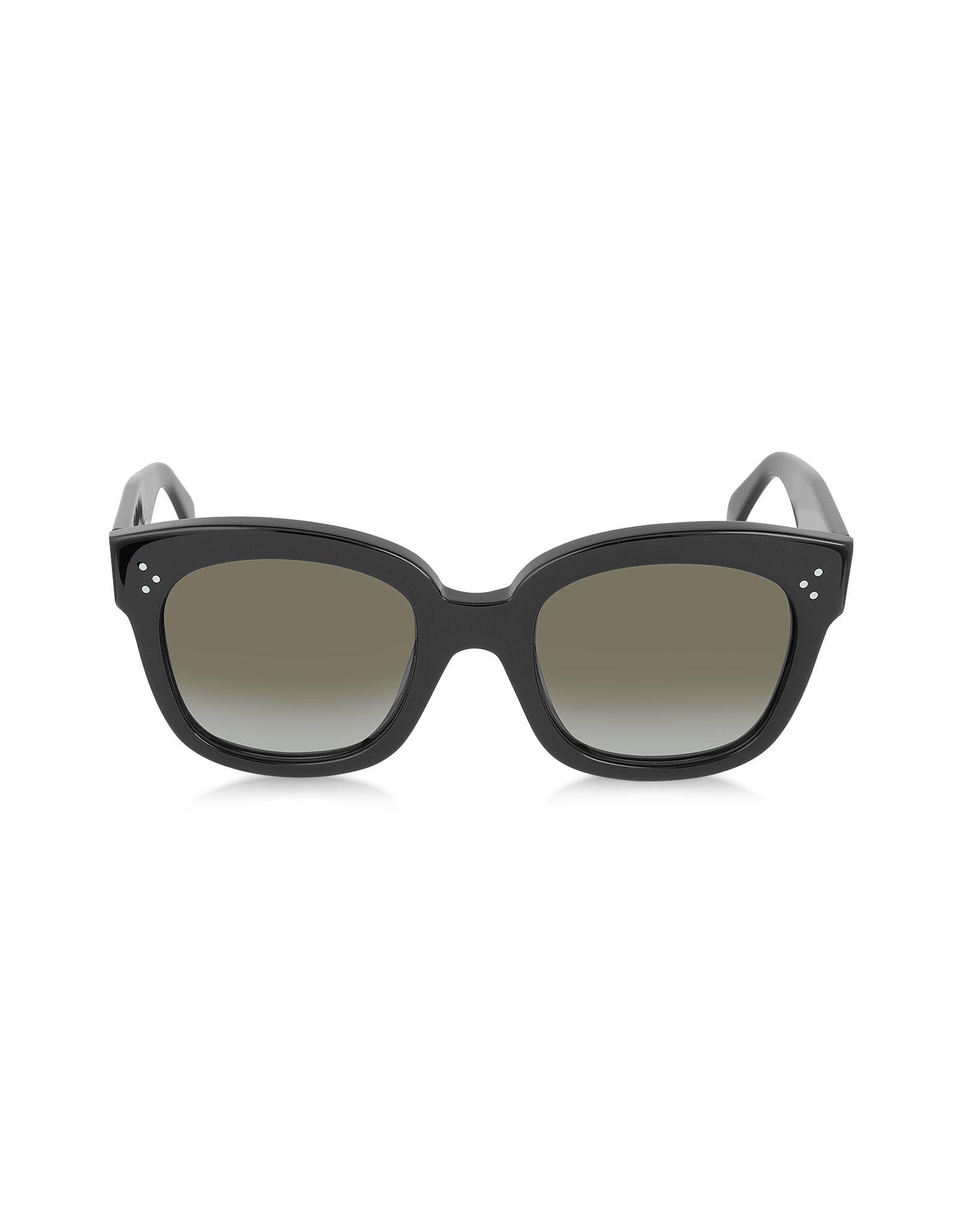 7890fbc7df7f Céline Black Gradient Brown CL41805 S New Audrey Black Acetate Sunglasses  at FORZIERI