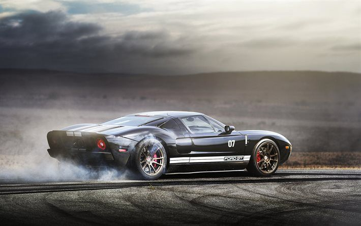 Download Wallpapers Ford Gt Drift Smoke Supercars Ford Besthqwallpapers Com Ford Gt Ford Gt Wallpaper Super Cars