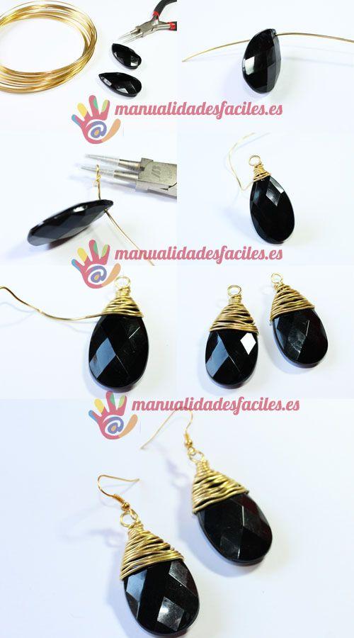 diy-pendientes-alambre- Picuture tute ~ Wire Jewelry Tutorials ...
