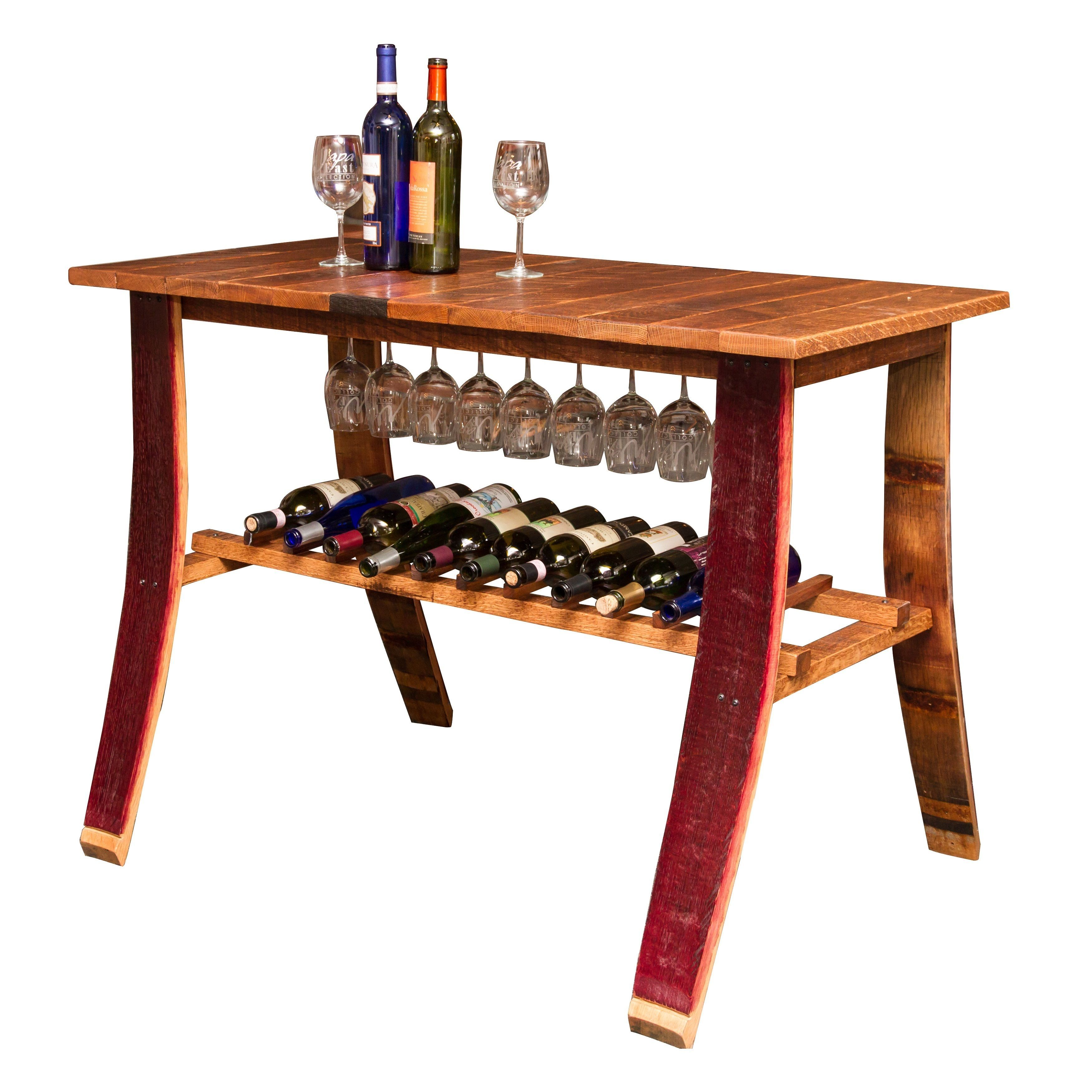 wine barrel wine rack furniture. This Wine Barrel Country Tasting Table Is Made From Reclaimed White Oak And French Rack Furniture