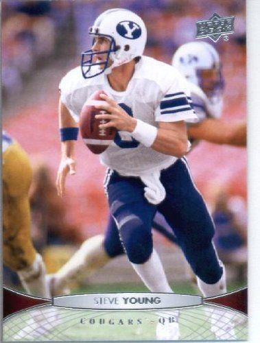 2012 Upper Deck Football Card 42 Steve Young Byu Cougars San Francisco 49ers By Upper Deck 1 89 2012 Upper Deck Foo Byu Sports Byu Football Byu Cougars