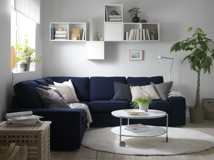 Ikea Woonkamer Hoekbanken : Kivik hoekbank #ikea #woonkamer #bank #zitbank #interieur #blauw