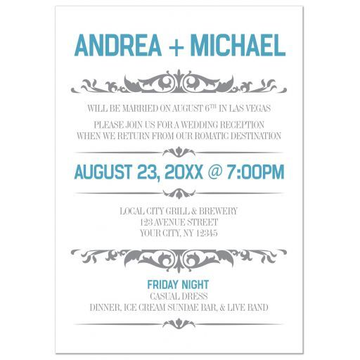 Small Ceremony Big Reception Invitations: Reception Only Invitations