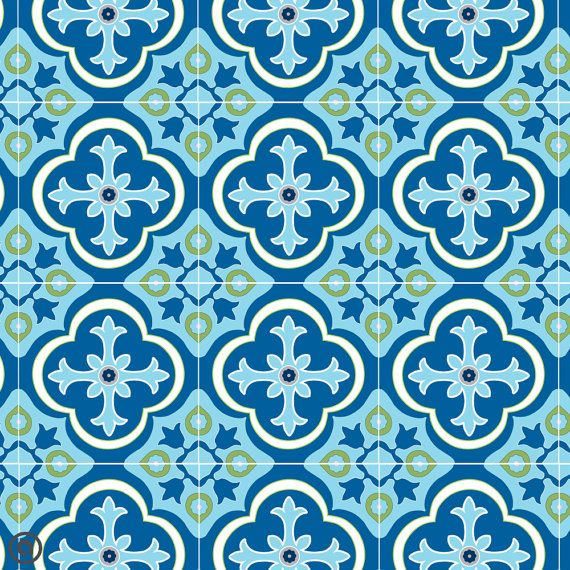 Removable Wallpaper Tiles removable tile wallpaper- parliament tile- peel & stick self
