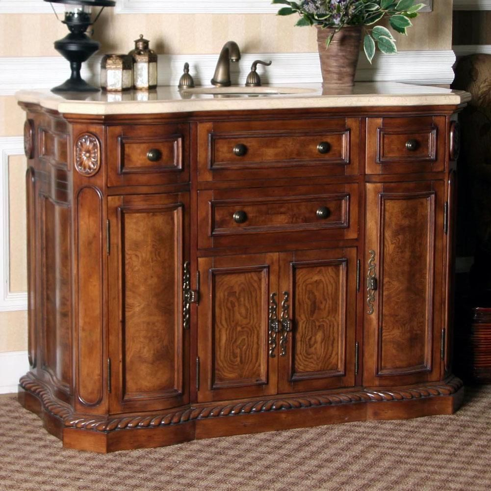 Retro Sinks Bathroom - Art deco 48 inch antique sink chest bathroom vanity