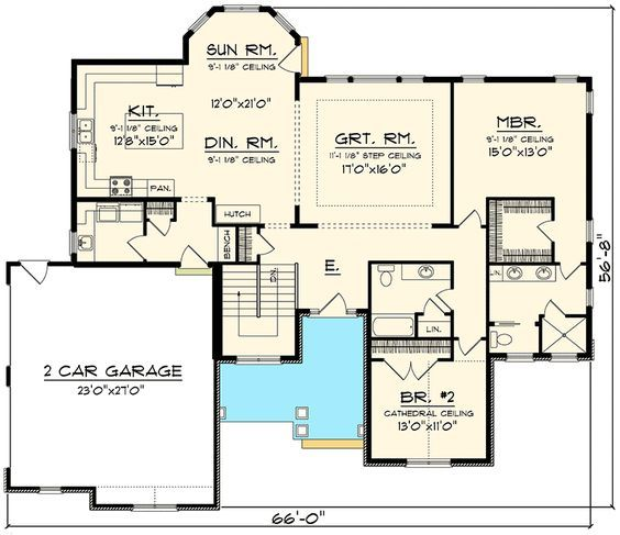 Garage Designs And Layouts: Plan 89912AH: Open Concept Home With Side Load Garage