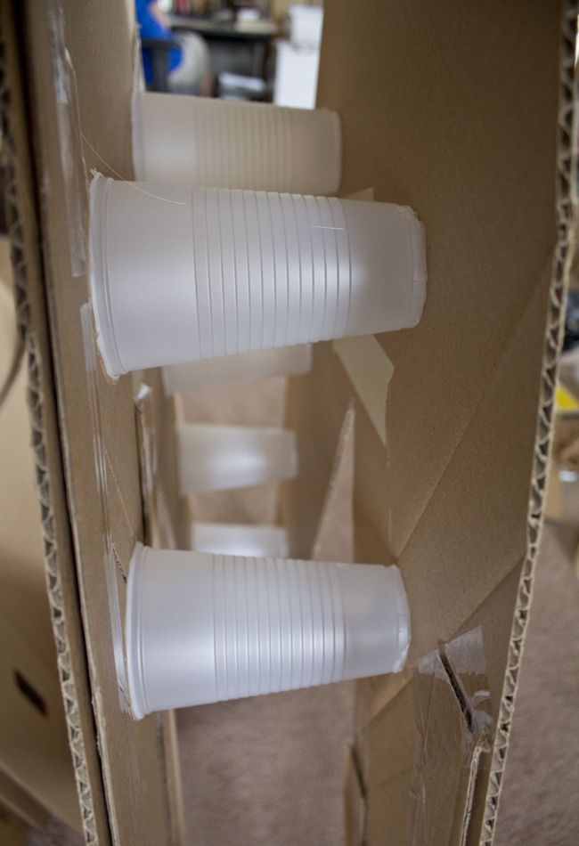 Cups Glued To Cardboard Shapes To Make Them Dimensional  Theme