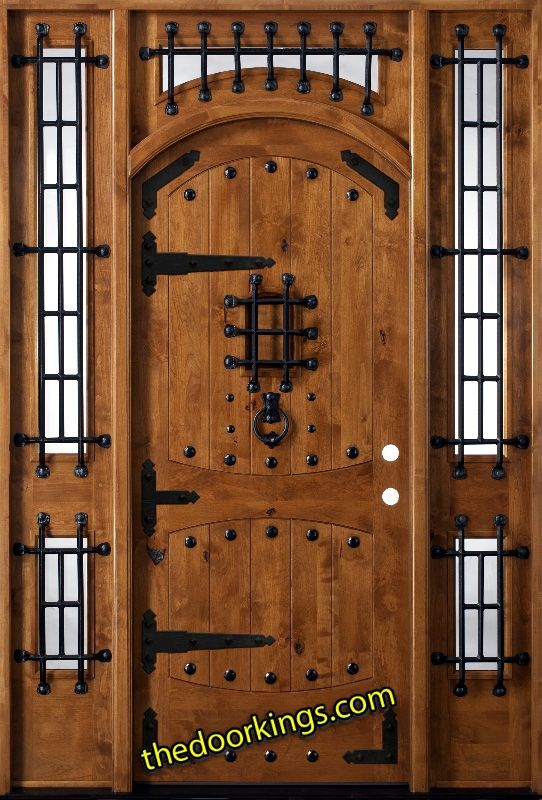 Details About Rustic Knotty Alder Wood Custom Entry Door