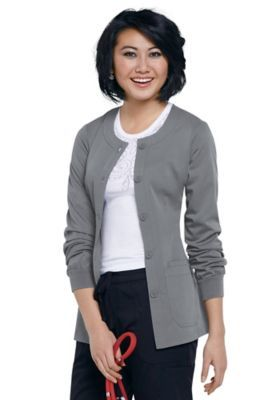NrG by Barco round neck scrub jacket.
