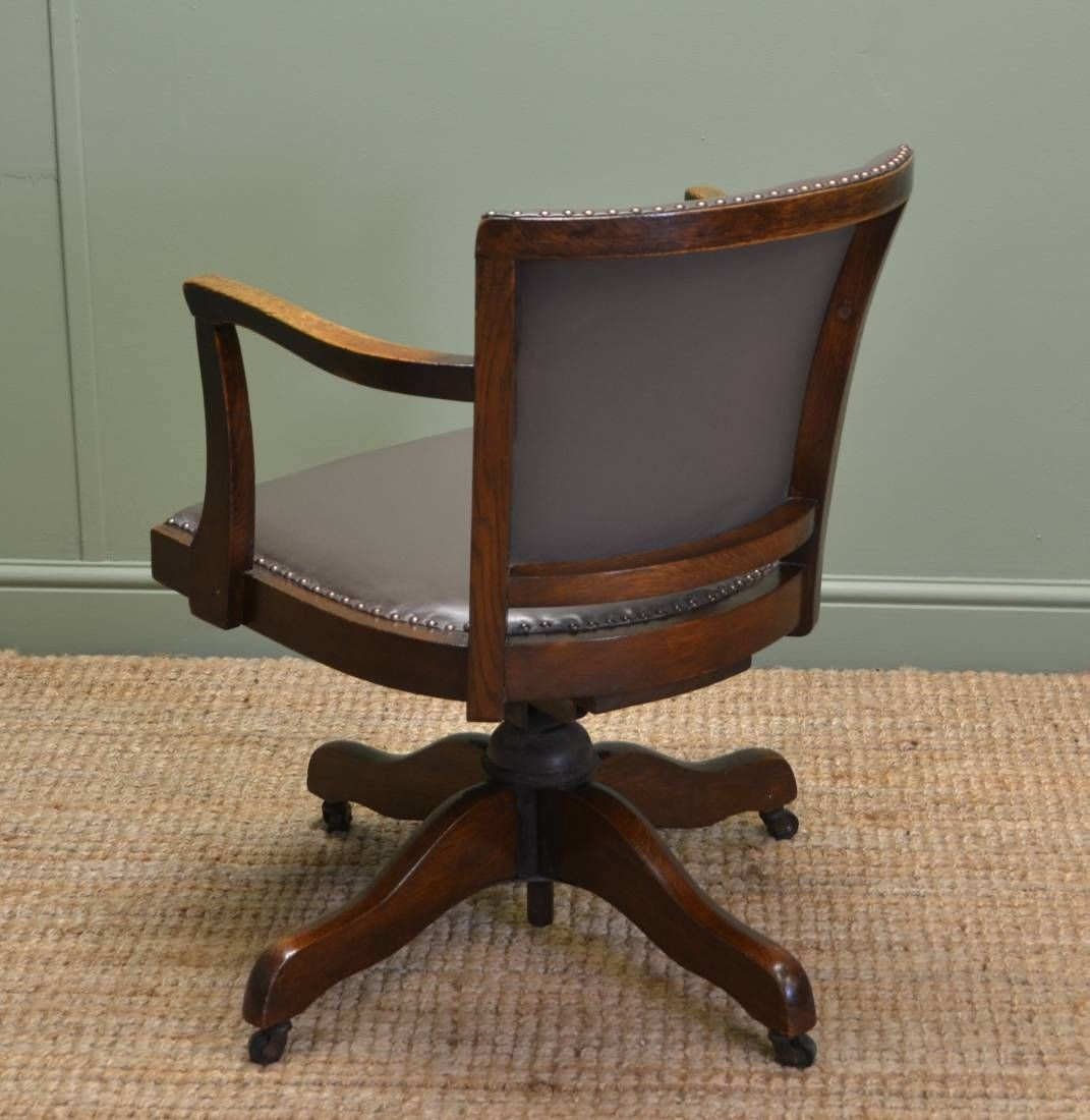 Antique Oak Desk Chair Swivel - Antique Oak Desk Chair Swivel Http://devintavern.com Pinterest