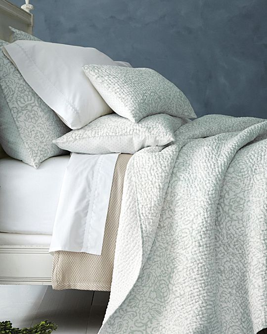 Printed Dream Quilt And Sham Quilted Coverlet