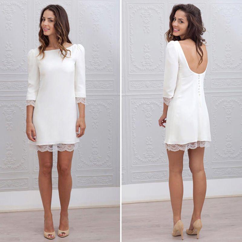 d7501837a Casamento apenas no civil? 30 ideias de vestido para a noiva | Dress ...