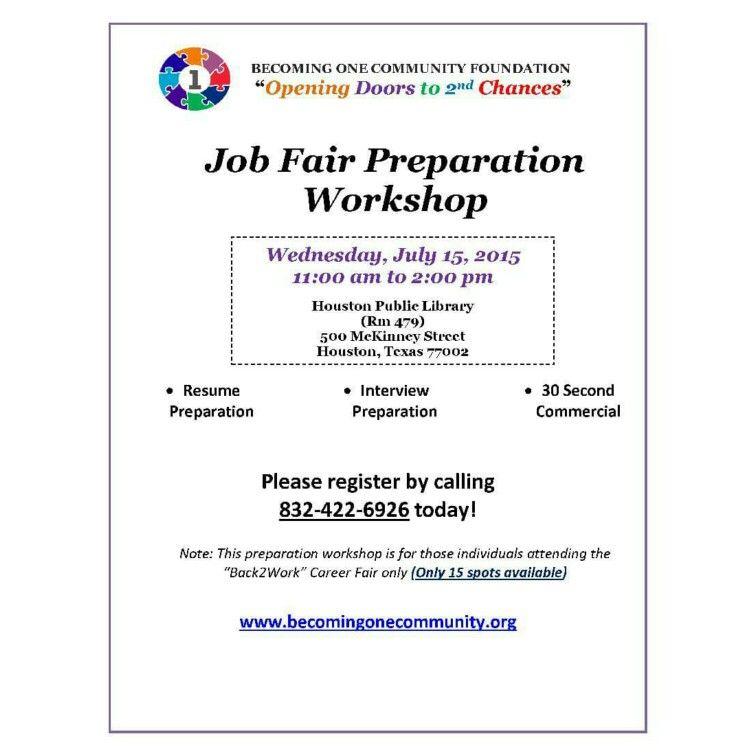 Job fair prep job fair job resume