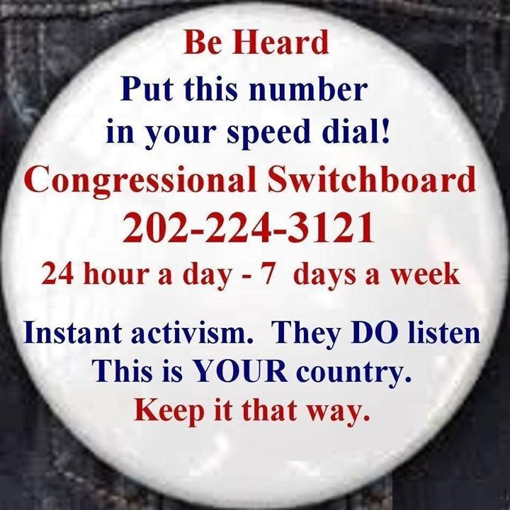 Congressional Switchboard Keep this phone number at the ready - employer phone number