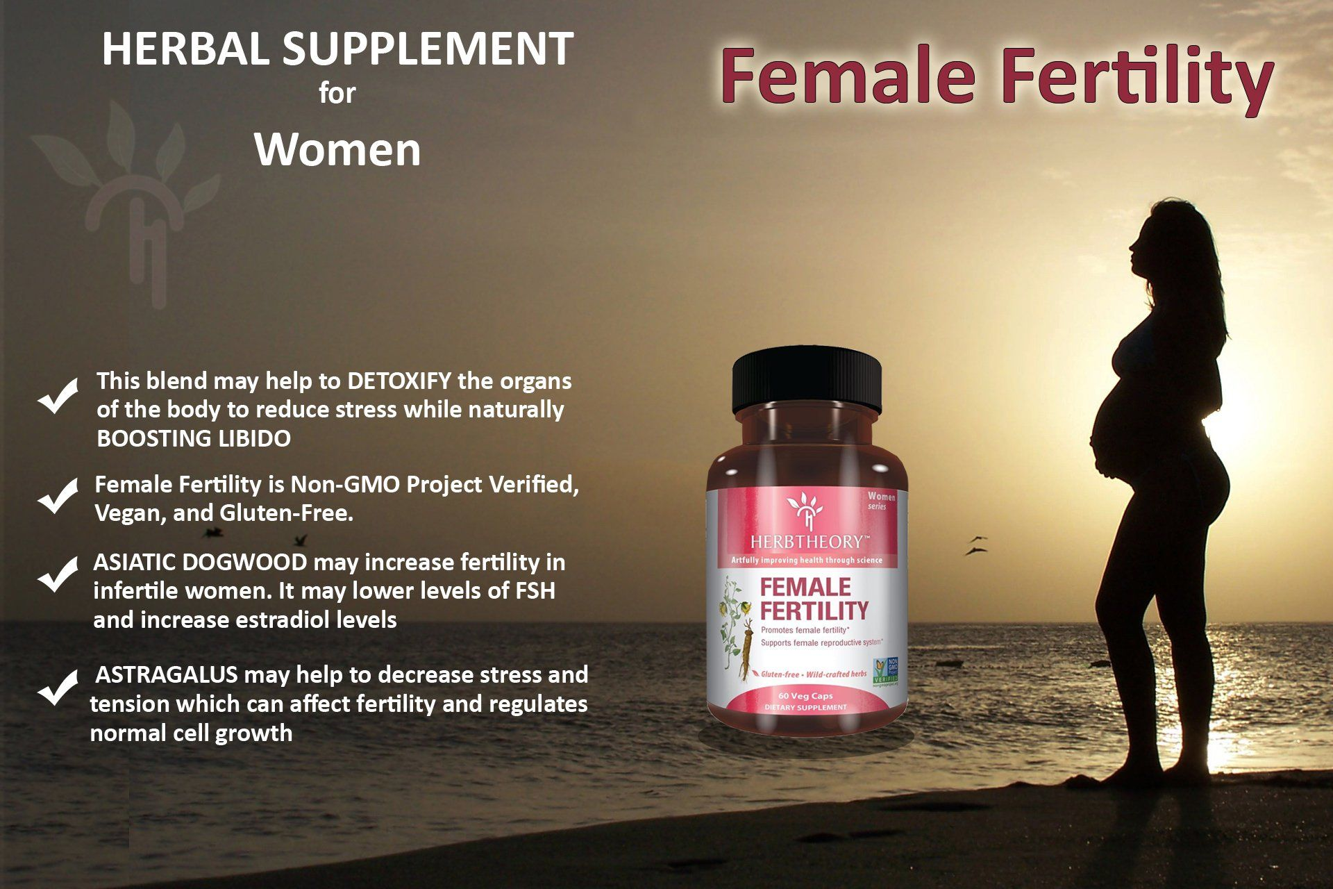 Herbtheory Female Fertility Supplement For Women To Assist With The Reproductive System 950mg 60 Capsules Fertility Supplements Female Fertility Fertility Diet