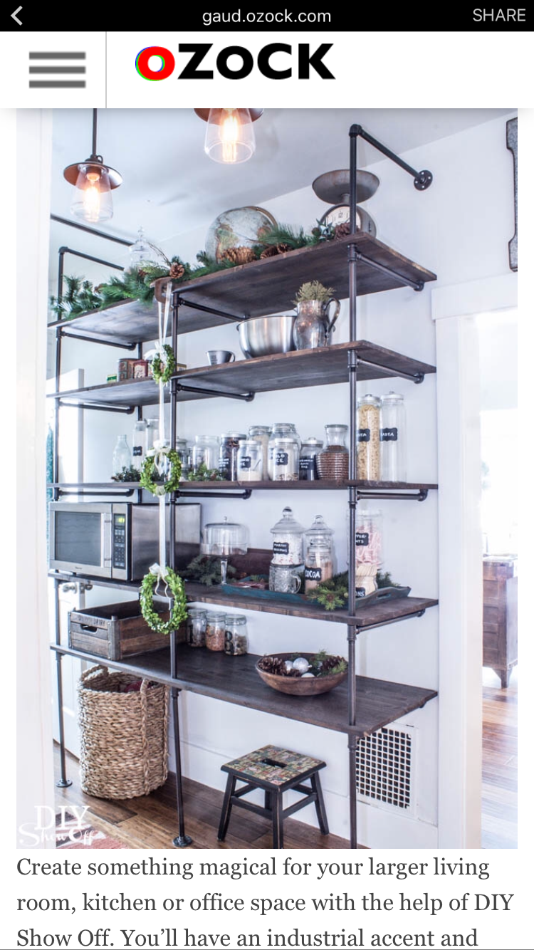 Shelving In The Pantry