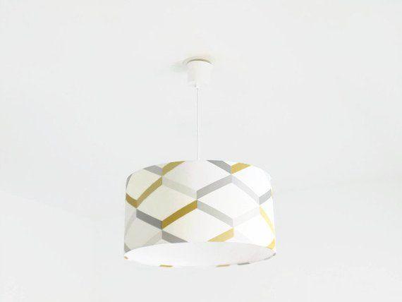 Scandinavian gray luster yellow cylindrical ceiling suspension - couleur des fils electrique
