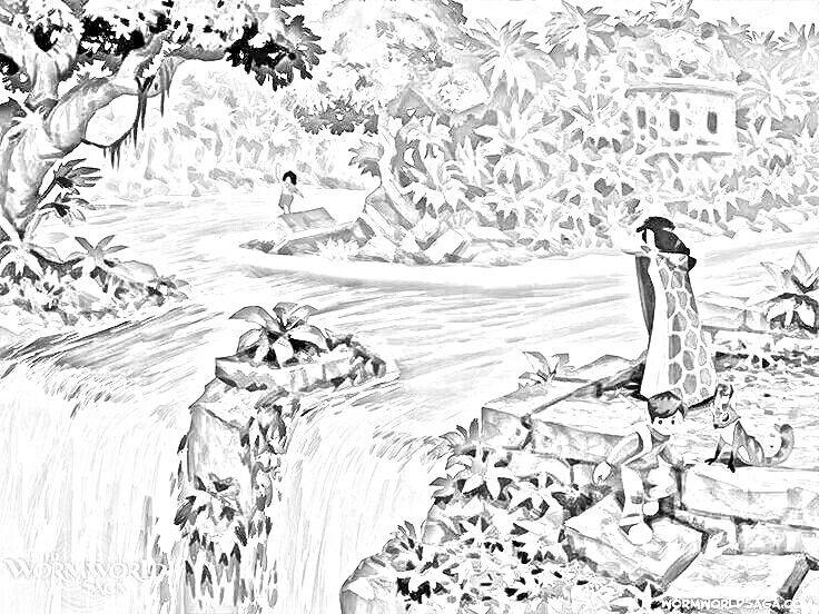 Kleurplaten Waterval.Waterval Zwart Wit Kleurplaten Black And White Pinterest