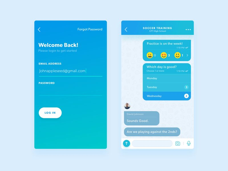 Poll Messenger UI | Chat/Message UI | Android design, App login, App