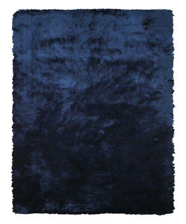 Love This Dark Blue Plush Rug On Zulily Zulilyfinds Dark Blue Rug Dark Blue Rooms Blue Area