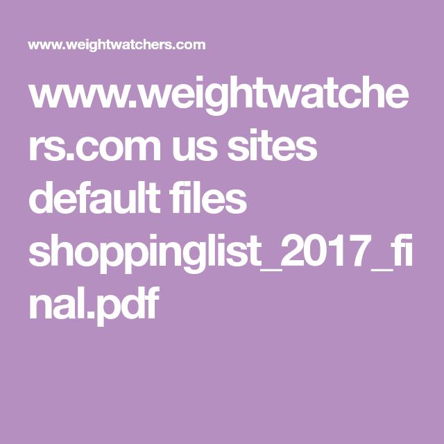 Www.Weightwatchers.Com
