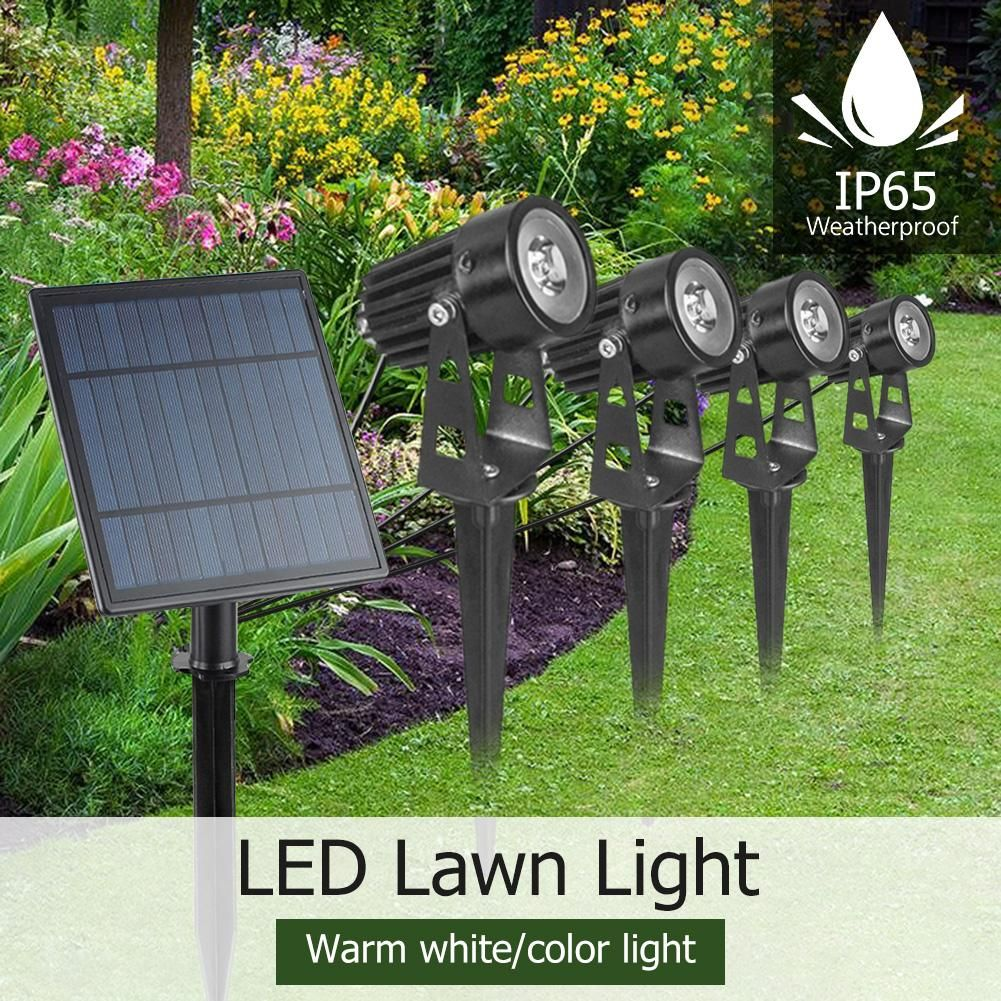 Solar Energy Powered Led Lawn Lamps Ip65 Waterproof Landscape Spike Spot Lights 4w Lighting For O In 2020 Lawn Outdoor Garden Outdoor Lighting