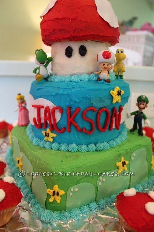 Superest Super Mario Birthday Cake NO Fondant Required Super