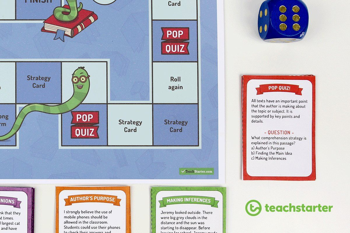 A Fun Classroom Comprehension Strategies Board Game