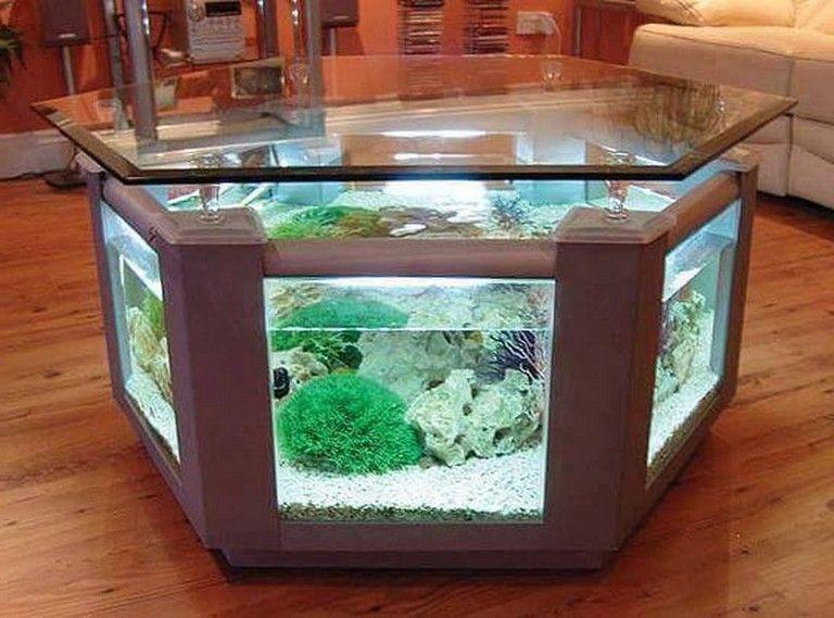 30 Irresible Aquarium Feature On Coffee Table Design Ideas