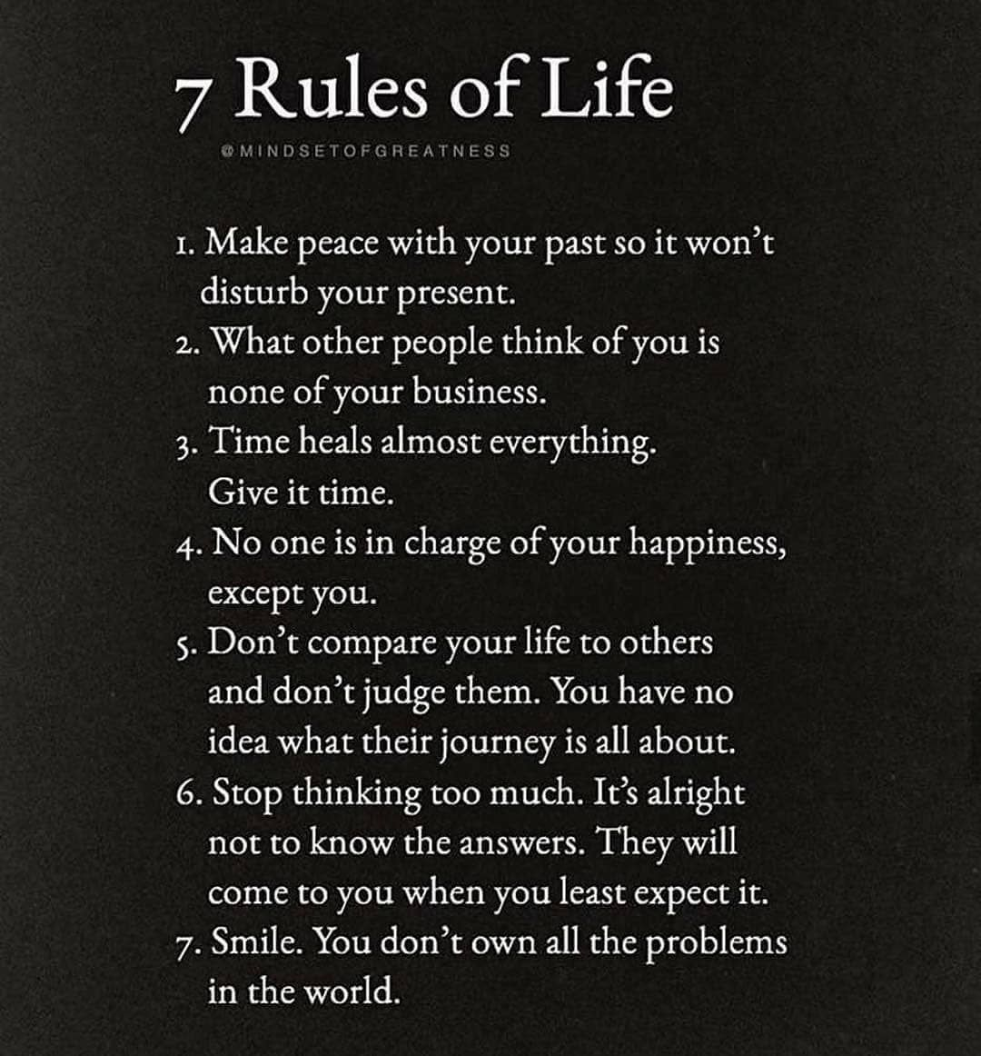 The 3 Rules Of Life quotes life lessons life rules life motivation