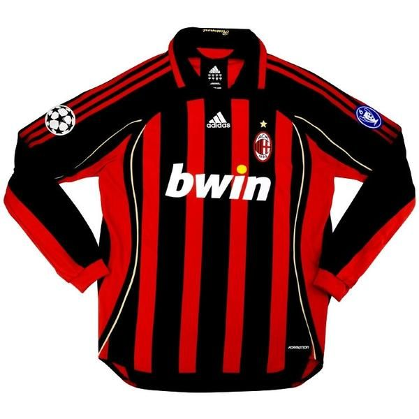 AC Milan Football club Adidas Home Long sleeve 2006 -07 # ...